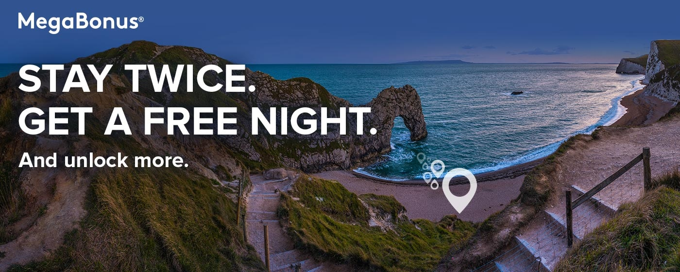 MegaBonus®. Stay twice. Get a free night. And unlock more.
