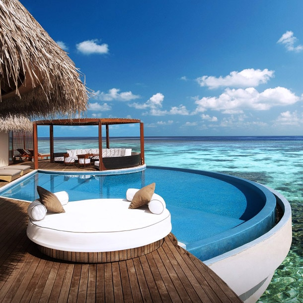 A pool at the W Retreat & Spa - Maldives