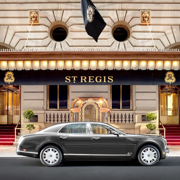 A car outside the St. Regis New York