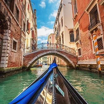 Gondola rides in Venice.