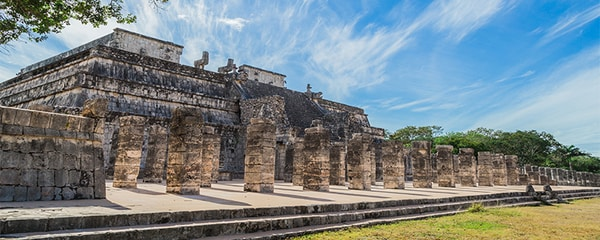 Mayan ruins at Chichen Itza.