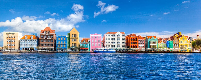 View of Willemstad, Curacao, in the Caribbean.