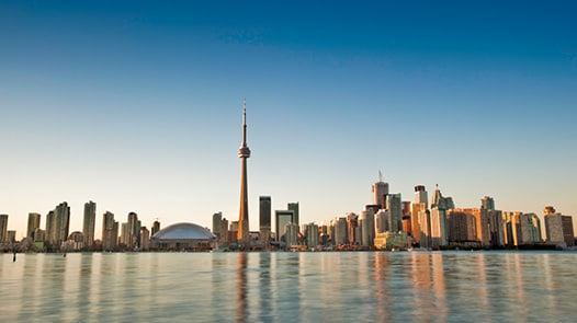 Lake and Toronto skyline