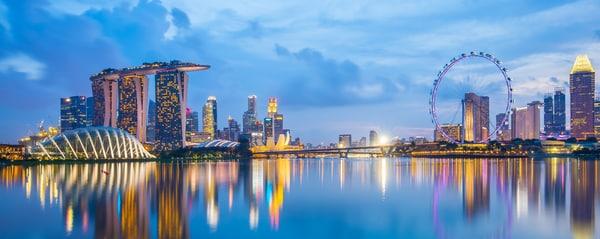싱가포르 마리나 베이 전경