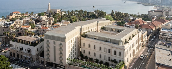 Aerial view of the Jaffa Hotel