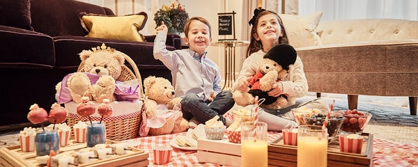 In-suite Teddy Bear picnic with kids