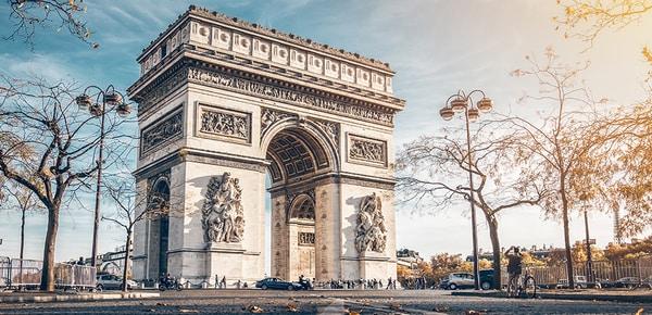 Arc de Triomphe en automne, Paris, France