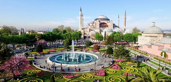 Blick aus der Vogelperspektive auf Istanbul, Türkei