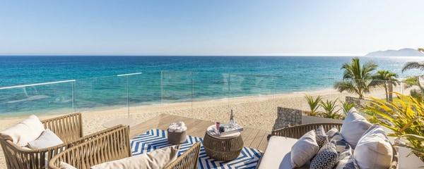 Luxury suite overlooking the ocean