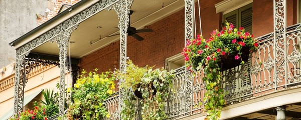 Wrought Iron Balconies in New Orleans