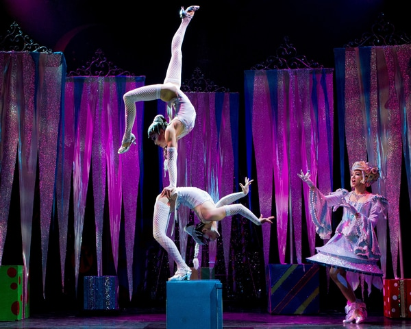gymnasts performing on stage