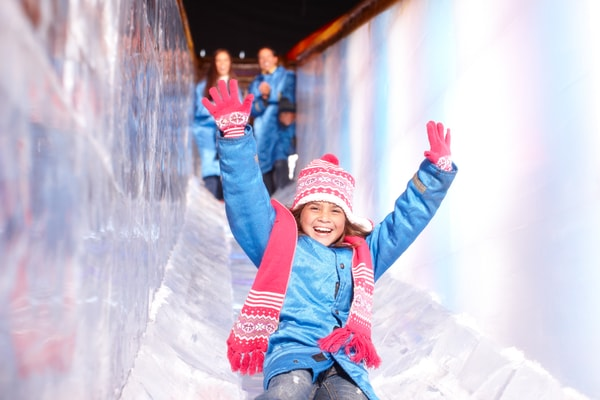 Image of girl ice sliding
