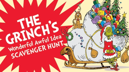 The Grinch's wonderful awful idea scavenger hunt