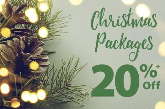 Christmas packages 20% off