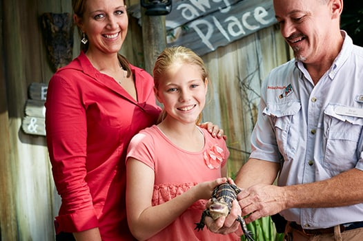 Family with Alligator