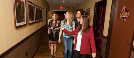 people getting a tour backstage at the Grand Ole Opry