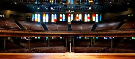 view of seating at Ryman Auditorium
