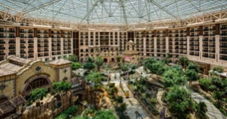 view of the atrium at Gaylord Texan