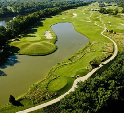 aerial view of Gaylord Springs golf course