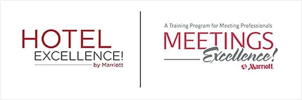The side-by-side Hotel Excellence and Meeting Excellence logos