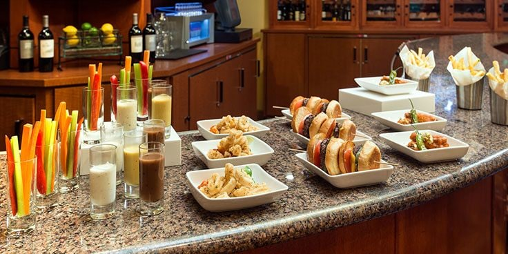 Los Angeles Airport Marriott catering options