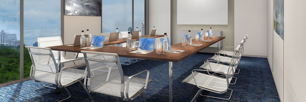 U-shaped conference table