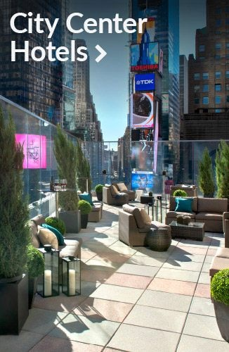 Rooftop lounge in Times Square | Link to city center hotels