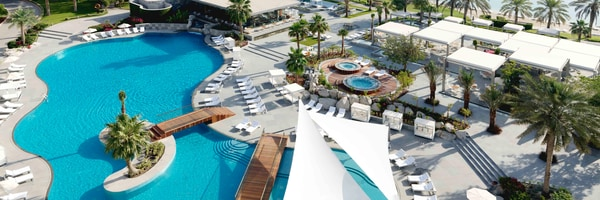 Overhead view of pool at The Ritz-Carlton Bahrain