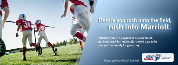 Marriott Hotels is a Proud Sponsor of the USA Football Team
