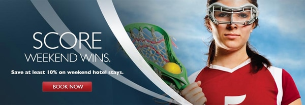 US Lacrosse – Save at least 10% on weekend stays