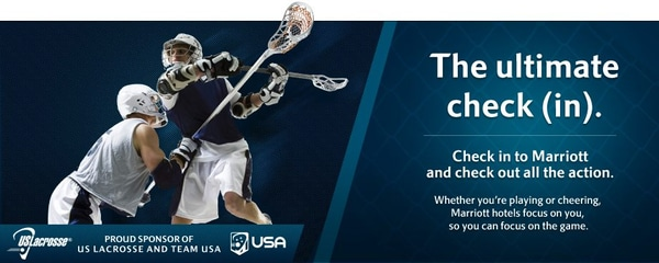 Marriott Hotels is a Proud Sponsor of the USA Lacrosse Team