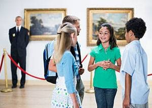 Group travel for students to museums.