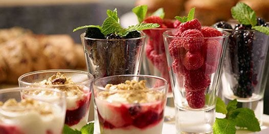 Delicious snacks to welcome your guests