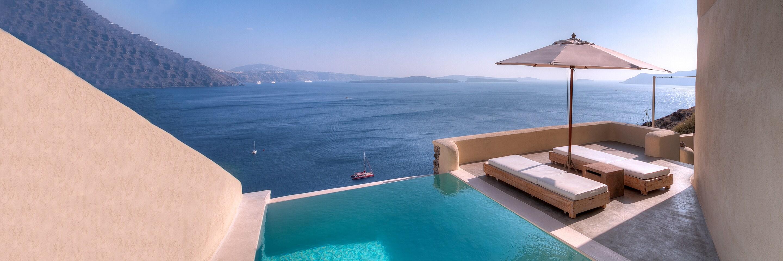 Santorini poolside