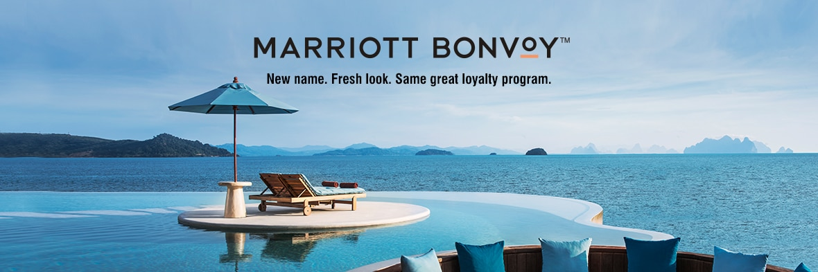 Marriott Bonvoy. New name. Fresh look. Same great loyalty program.