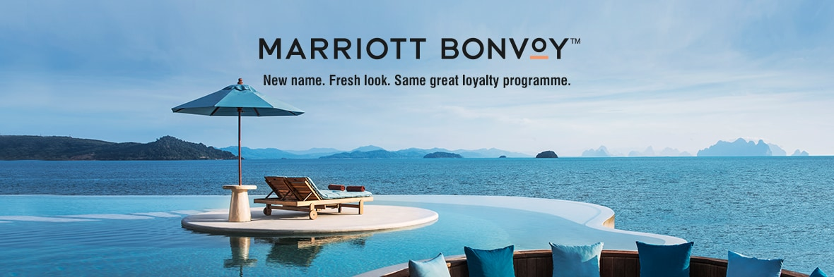 Marriott Bonvoy. New name. Fresh look. Same great loyalty programme.