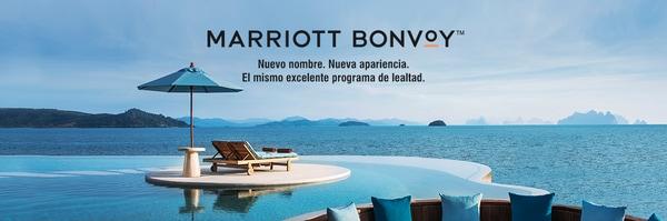 Marriott Bonvoy. Nuevo nombre. Nueva apariencia. El mismo excelente programa de lealtad.