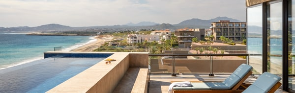 View from presidential suite at the JW Marriott Los Cabos Beach Resort & Spa