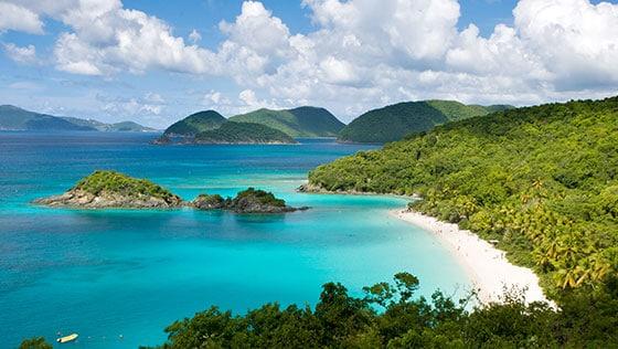 Luftbild eines Strandes
