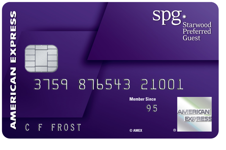 The SPG Credit Card from American Express