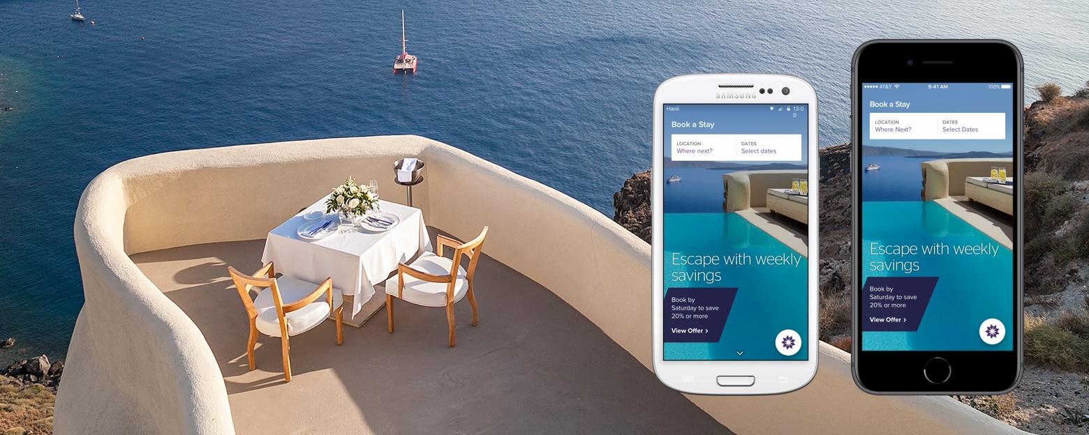 Die neue SPG-App auf zwei Mobiltelefonen