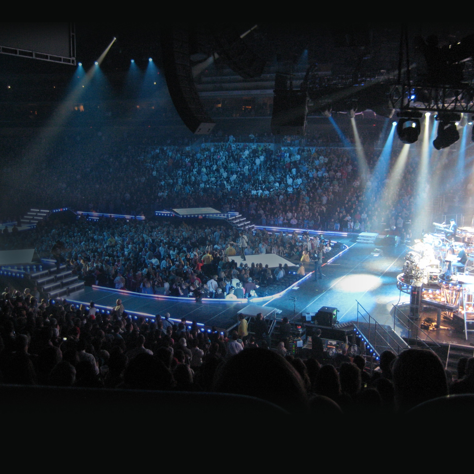 Large crowd at an indoor concert
