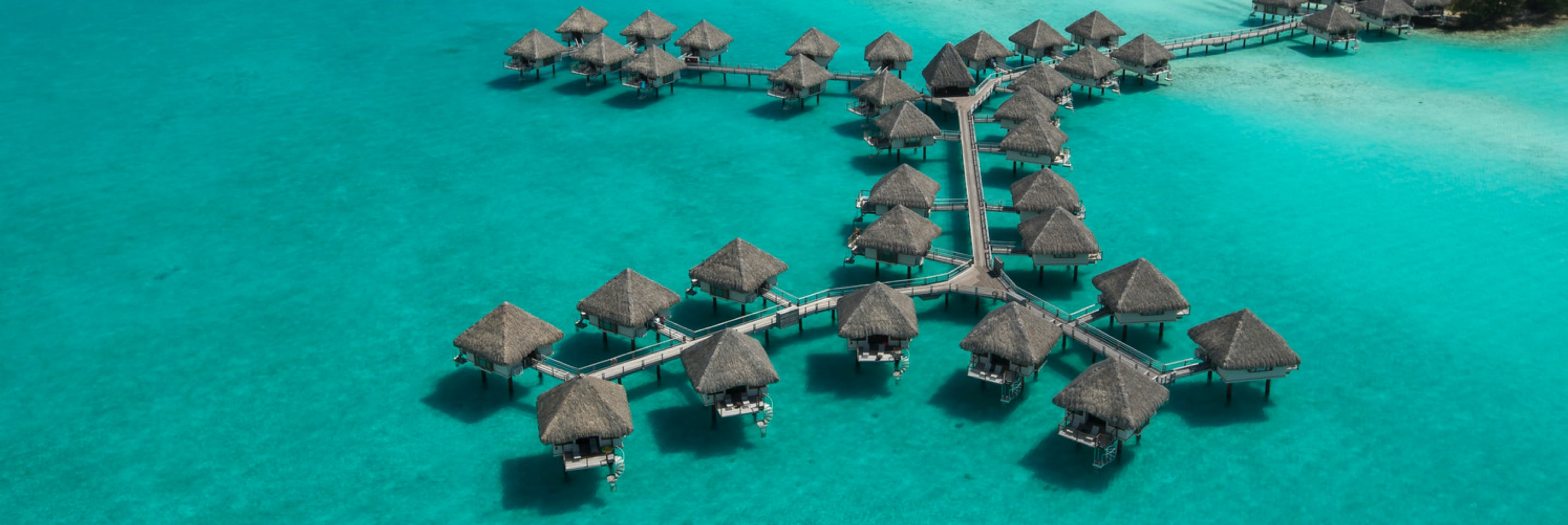 Villas on the water at Bora Bora