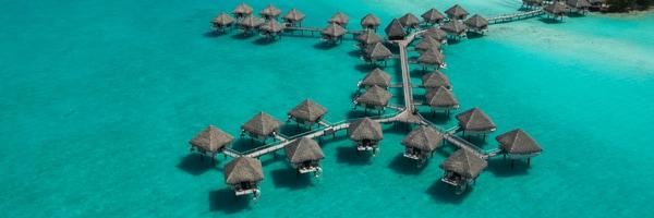 Villas on the water at Bora Bora