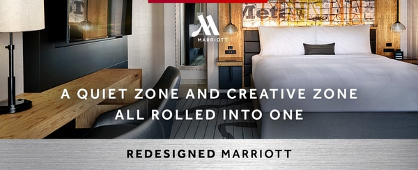 A Quiet Zone And Creative Zone All Rolled Into One | Redesigned Marriott Guest Room