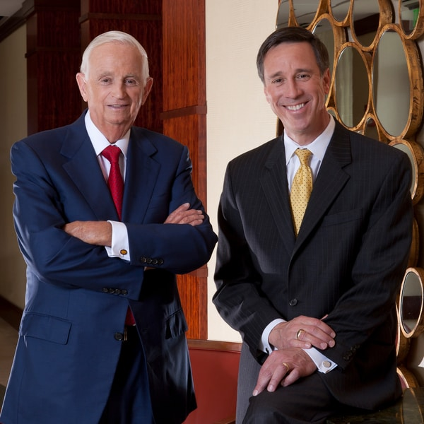 Photo of Bill Marriott and Arne Sorenson
