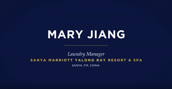 Mary Jiang, Laundry Manager, Sanya Marriott Yalong Bay Resort and Spa, Sanya, P.R. China