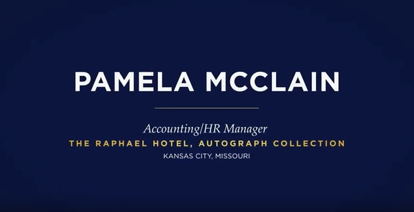 Pamela McClain, Accounting/HR Manager, The Raphael Hotel, Autograph Collection, Kansas City, Missouri