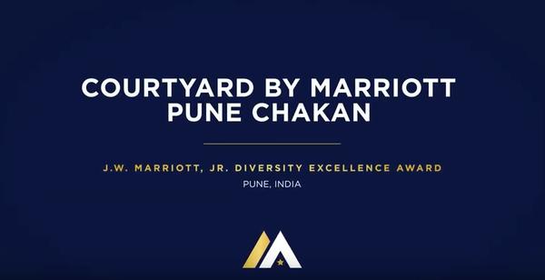 Courtyard by Marriott Pune Chakan, J.W. Marriott, JW Diversity Excellence Award, Pune, India