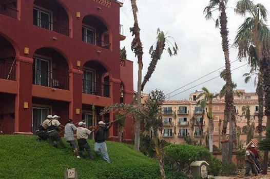 Disaster scene in Cabo San Lucas